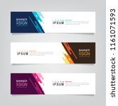 vector abstract web banner... | Shutterstock .eps vector #1161071593