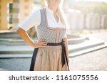traditional bavarian dress ... | Shutterstock . vector #1161075556