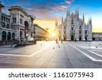 duomo at sunrise  milan  europe. | Shutterstock . vector #1161075943