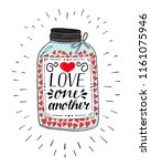 hand lettering love one another ... | Shutterstock .eps vector #1161075946