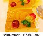 fruit cake on white background | Shutterstock . vector #1161078589