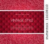 vector ornate frame for... | Shutterstock .eps vector #116108110