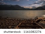 old solitary boat wood... | Shutterstock . vector #1161082276