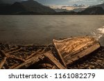 old solitary boat wood... | Shutterstock . vector #1161082279