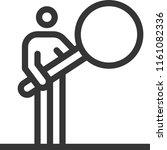 magnifier  bold line stick... | Shutterstock .eps vector #1161082336