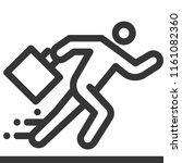 running businessman  bold line... | Shutterstock .eps vector #1161082360