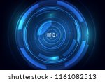 abstract futuristic technology... | Shutterstock .eps vector #1161082513