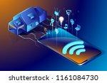 smart house technology.... | Shutterstock .eps vector #1161084730