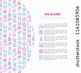 hiv and aids concept with thin... | Shutterstock .eps vector #1161085906