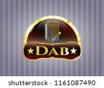 golden emblem or badge with... | Shutterstock .eps vector #1161087490
