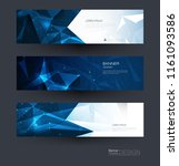 vector polygon banner set.... | Shutterstock .eps vector #1161093586
