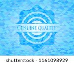genuine quality light blue... | Shutterstock .eps vector #1161098929