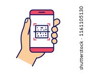 qr code smartphone scanner... | Shutterstock .eps vector #1161105130