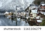 winter scenic view of village... | Shutterstock . vector #1161106279