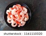 fresh prawns. raw shrimps ... | Shutterstock . vector #1161110320