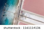 rose caribbean salt lake... | Shutterstock . vector #1161114136