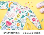 little girl clothing and...   Shutterstock . vector #1161114586