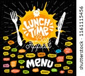 lunch time  fork  knife  menu.... | Shutterstock .eps vector #1161115456