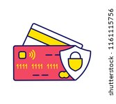nfc credit card color icon....   Shutterstock .eps vector #1161115756