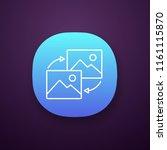 data transforming app icon. ui...