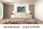bedroom interior. 3d... | Shutterstock . vector #1161119290