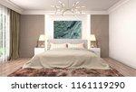 bedroom interior. 3d... | Shutterstock . vector #1161119290