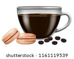 coffee cup with roasted coffee... | Shutterstock .eps vector #1161119539
