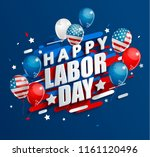 happy labor day holiday banner... | Shutterstock .eps vector #1161120496