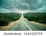 a rainy highway captured | Shutterstock . vector #1161122719