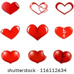 vector file of hearts | Shutterstock .eps vector #116112634
