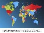 color world map vector | Shutterstock .eps vector #1161126763