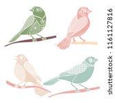 vintage decorative birds... | Shutterstock .eps vector #1161127816