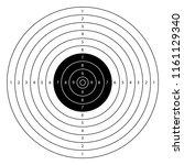 blank gun target vector... | Shutterstock .eps vector #1161129340