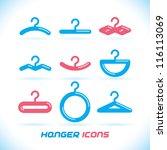 vector glossy hanger icons ... | Shutterstock .eps vector #116113069
