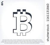 bitcoin icon vector  stock... | Shutterstock .eps vector #1161131860