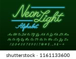 glowing green and blue neon... | Shutterstock .eps vector #1161133600