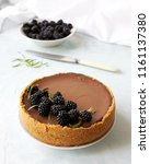 homemade chocolate rustic... | Shutterstock . vector #1161137380