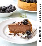 homemade chocolate rustic... | Shutterstock . vector #1161137383
