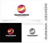 trade arrow abstract logo...   Shutterstock .eps vector #1161142243