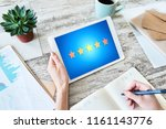customer experience... | Shutterstock . vector #1161143776
