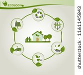 environmental and eco friendly... | Shutterstock .eps vector #1161145843