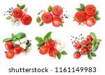 set with delicious ripe... | Shutterstock . vector #1161149983