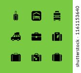 9 luggage icons in vector set.... | Shutterstock .eps vector #1161153640