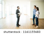 mid adult couple with real... | Shutterstock . vector #1161155683