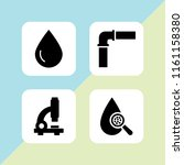 tube icon. 4 tube set with test ... | Shutterstock .eps vector #1161158380
