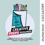 we are hiring designers... | Shutterstock .eps vector #1161162589