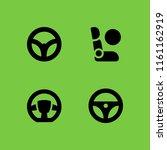 steering icon. 4 steering set... | Shutterstock .eps vector #1161162919