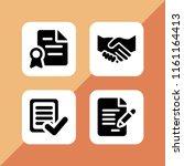 signature icon. 4 signature set ... | Shutterstock .eps vector #1161164413