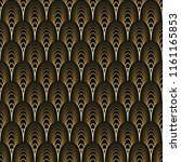 art deco seamless pattern.... | Shutterstock .eps vector #1161165853