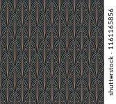 art deco seamless pattern.... | Shutterstock .eps vector #1161165856